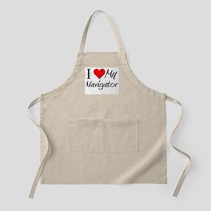 I Heart My Navigator BBQ Apron
