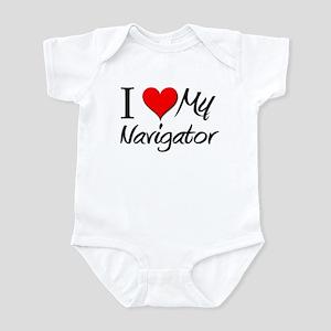 I Heart My Navigator Infant Bodysuit