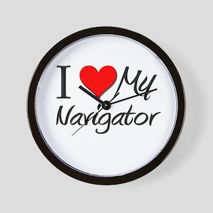 I Heart My Navigator Wall Clock
