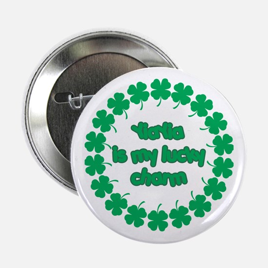 """YiaYia is My Lucky Charm 2.25"""" Button"""