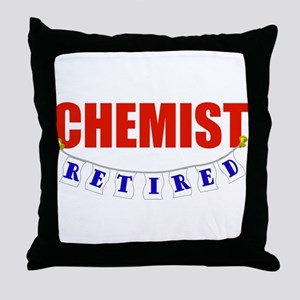 Retired Chemist Throw Pillow