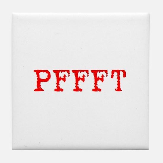 PFFFT Tile Coaster