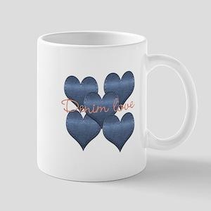 Cool Denim Love Mugs