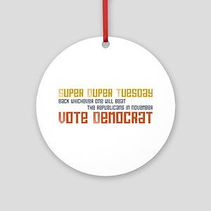 Super Tuesday Vote Democrat Keepsake Ornament (Rou
