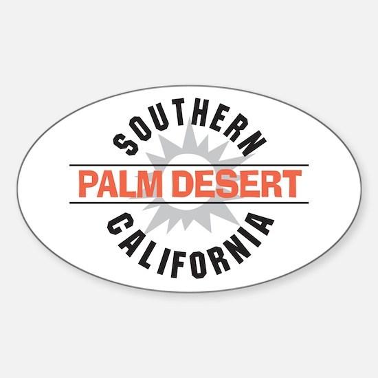 Palm Desert California Oval Decal
