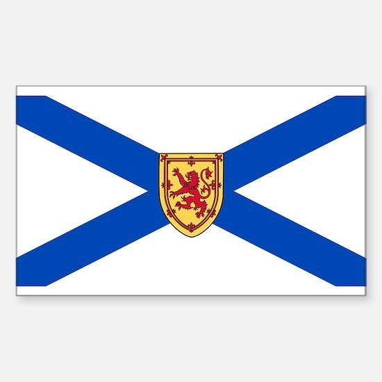 Nova Scotia Flag Rectangle Decal