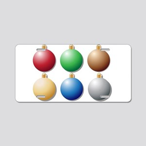 Coloured Baubles Aluminum License Plate