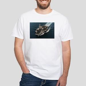 USS John Stennis Ship's Image White T-Shirt