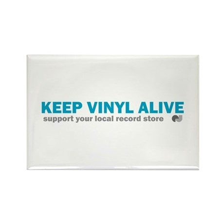 Keep Vinyl Alive Rectangle Magnet (100 pack)