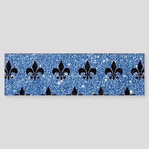 ROYAL1 BLACK MARBLE & BLUE GLITTE Sticker (Bumper)
