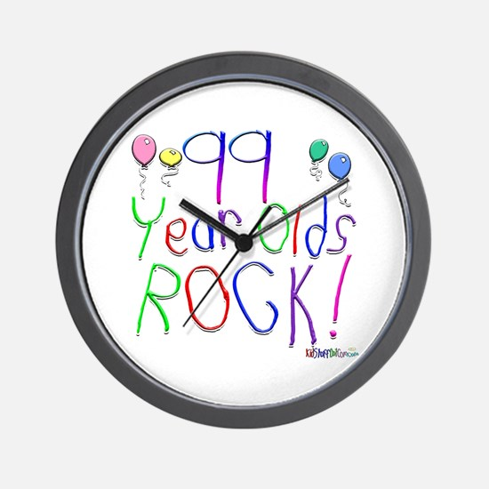 99 Year Olds Rock ! Wall Clock