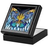 Monarch butterfly Square Keepsake Boxes