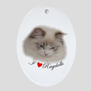 Ragdoll Oval Ornament