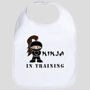 Brunette Ninja In Training Bib