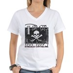 pirate hot rods Women's V-Neck T-Shirt