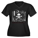 pirate hot rods Women's Plus Size V-Neck Dark T-Sh