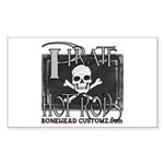 pirate hot rods Rectangle Sticker