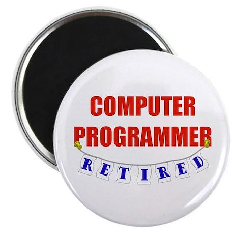 "Retired Computer Programmer 2.25"" Magnet (100 pack"