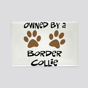 Owned By A Border Collie Rectangle Magnet