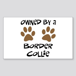Owned By A Border Collie Rectangle Sticker