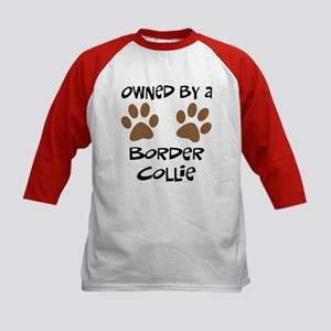 Owned By A Border Collie Kids Baseball Jersey