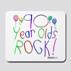 90 Year Olds Rock ! Mousepad