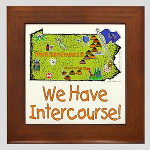 PA-Intercourse! Framed Tile