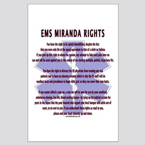 EMS Miranda Rights Gifts Large Poster