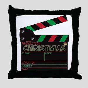 Christmas Clapper Board Throw Pillow