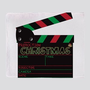 Christmas Clapper Board Throw Blanket