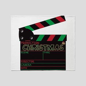 Christmas Clapper Board Throw Blanket