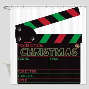 Christmas Clapper Board Shower Curtain