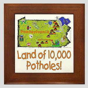 PA-Potholes! Framed Tile