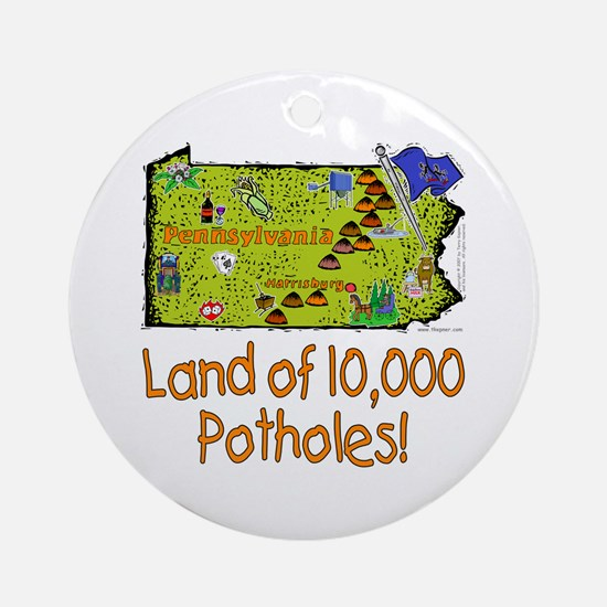 PA-Potholes! Ornament (Round)