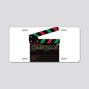 Christmas Clapper Board Aluminum License Plate