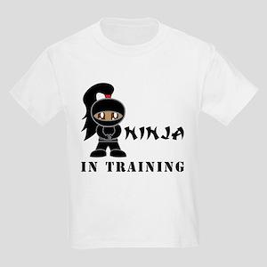 Dark Hair/Skin Ninja Kids Light T-Shirt