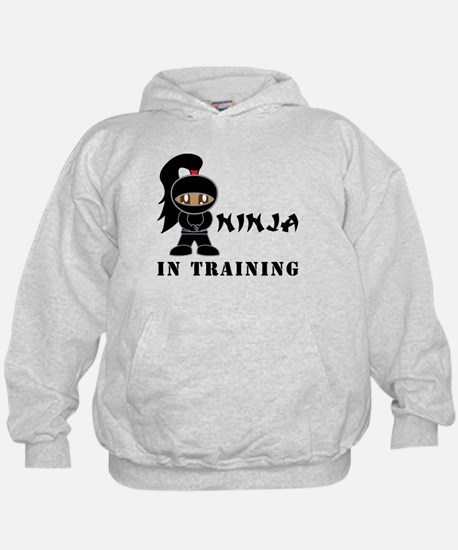 Dark Hair/Skin Ninja In Training Hoodie