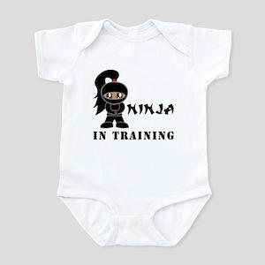 Dark Hair/Skin Ninja In Training Infant Bodysuit