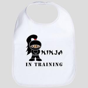 Dark Hair/Skin Ninja In Training Bib