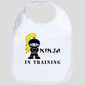 Blonde Ninja In Training Bib