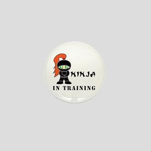 Redhead Ninja In Training Mini Button