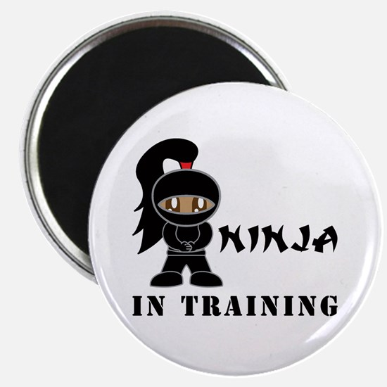 Dark Hair/Skin Ninja In Training Magnet