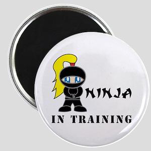 Blonde Ninja In Training Magnet