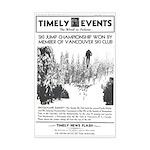 Mini Poster Print of 1939 Snoqualmie ski jump