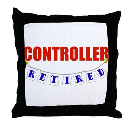 Retired Controller Throw Pillow