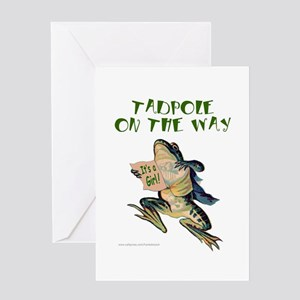 TADPOLE ON THE WAY Greeting Card