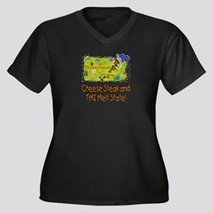PA-Melt! Women's Plus Size V-Neck Dark T-Shirt