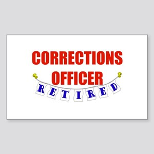 Retired Corrections Officer Rectangle Sticker