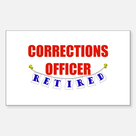 Retired Corrections Officer Rectangle Decal