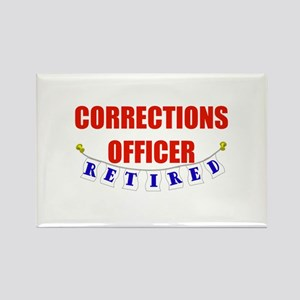Retired Corrections Officer Rectangle Magnet